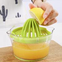 橙子榨汁机手动家用水果小型便携螺旋挤压式挤柠檬榨橙器