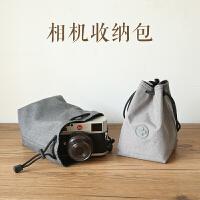 微单相机包单反保护套内胆收纳袋摄影尼康便携索尼镜头袋 灰色 小号