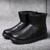 高帮防水面包棉靴冬季雪地靴男士短靴韩版潮流男靴子加绒保暖棉鞋