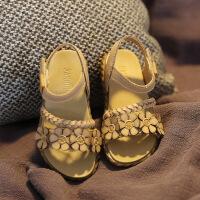 童鞋女1-3-7岁夏公主鞋小女孩沙滩凉鞋防滑软底真皮凉鞋