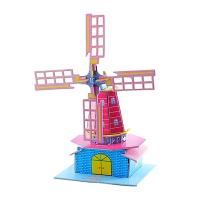 创意3D立体拼图纸质拼插模型儿童diy益智力有趣手工建筑模型玩具
