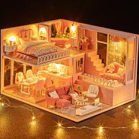 儿童玩具智趣屋DIY制作手工房子娃娃屋女生生日礼物休闲