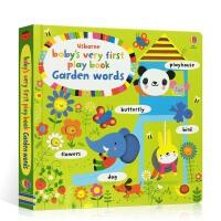 顺丰包邮 英文原版 Baby's very first play book garden words 宝宝玩玩游戏书
