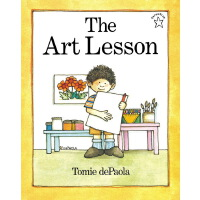 英文原版 The Art Lesson 名家Tomie dePaola 儿童英语启蒙图画绘本书