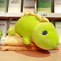 恐龙抱枕被子两用多功能个性空调被靠枕靠垫毯子午睡枕三合一