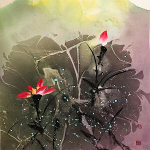 李墨川《花鸟六》著名画家