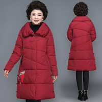 妈妈冬装棉衣40岁50中老年女装羽绒中长款遮肉中年人棉袄外套 L(建议80-105斤 赠送运费险)