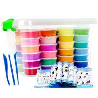 超轻粘土36色套装彩泥模具太空黏土橡皮泥沙玩具儿童益智收纳盒装
