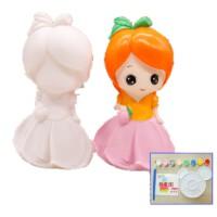 彩绘石膏娃娃儿童DIY手工涂色存钱罐白胚模涂鸦上色搪胶玩具