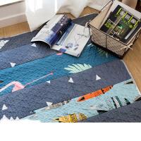 碎布拼接地垫北欧地毯卧室加厚客厅地垫茶几飘窗垫家用垫子可定制k