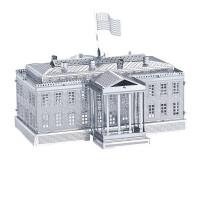 3D金属拼图建筑模型埃菲尔铁塔荷兰风车白宫摩天轮姬路城创意礼物
