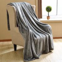纯色法兰绒毛毯冬季珊瑚绒毯子加厚保暖床单小毯子单双人沙发盖毯Y
