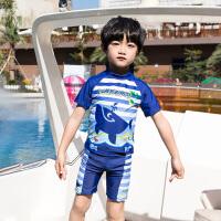 儿童泳衣套装男童分体泳裤男孩中大童泳装时尚卡通小童宝宝游泳装备