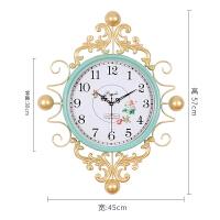 手工铁艺北欧钟表时钟挂钟客厅个性创意时尚现代简约家用卧室大气 淑女款-