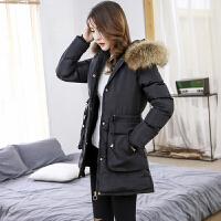 新年特惠棉衣中长款女士棉袄女装冬装新款冬季棉袄女2019新款羽韩版修身中长款加厚冬天外套