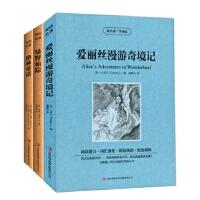 读名著学英语 格林童话 绿野 仙踪 爱丽丝漫游奇境记 共3本 词汇强化中英文双语英汉对照经典名著学生英语初高中读物
