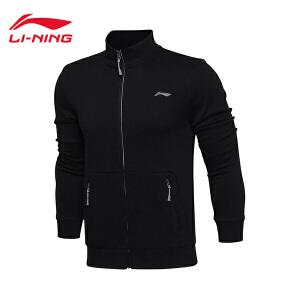 李宁卫衣男士训练系列开衫长袖外套立领针织春季运动服AWDL303