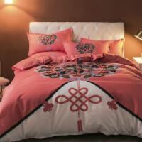 全棉纯棉磨毛四件套床单被套1.8m床上用品单人学生被子宿舍三件套