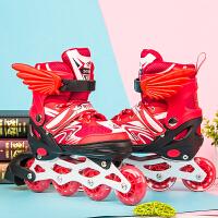 溜冰鞋儿童全套装男女旱冰轮滑鞋轮可调3-4-5-6-8-10岁