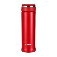 象印保温杯JZ48真空不锈钢水杯男女士便携茶杯迷你进口直身杯子 红色