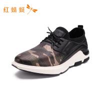 红蜻蜓男鞋夏季新款跑步透气运动男鞋休闲系带低帮板鞋A86340