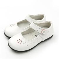 真皮童鞋2019秋季新款白色时尚公主鞋黑色儿童鞋软底女童皮鞋