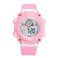 中学生手表女防水运动电子手表多功能夜光果冻带跑步儿童手表