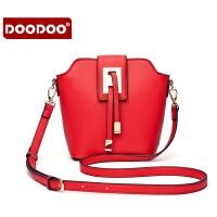 【支持礼品卡】DOODOO 2017新款时尚包包女包欧美甜美糖果色单肩斜跨女士小包包 D5168