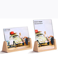 欧式木质相框摆台创意6 7寸七寸亚克力韩版现代冲印洗照片加抖音 U型相框-配高清亚克力面板