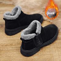 秋冬季潮流雪地靴男士棉靴英伦风中高帮男鞋大棉鞋