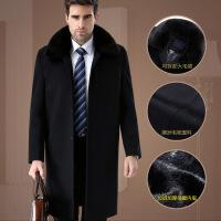 超长款羊毛大衣羊绒呢子大衣男父亲冬装加厚毛呢外套中老年爸爸装