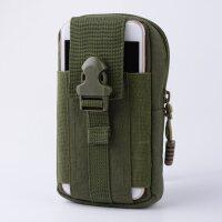 手机腰包男穿皮带多功能竖款小挂包帆布实用防泼水迷你战术腰包中老年手机包