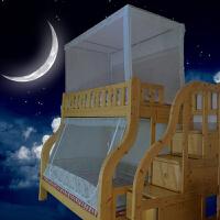 富俪蚊帐上下铺1.5m梯形床带书架蚊帐高低儿童床蚊帐1.2米