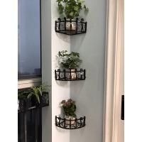 阳台花架落地室内客厅转角 墙角置物架绿萝吊兰架阳台转角三角放花盆架