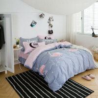 全棉四件套床罩床裙式纯棉卡通1.5m/1.8米床单被套床裙笠罩4件套
