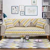 北欧 纯棉简约现代四季布艺沙发垫子全棉坐垫防滑沙发靠背巾套罩