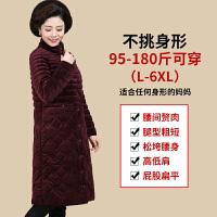 新年特惠妈妈冬装棉衣外套女中长款中老年人金丝绒羽绒40岁50中年棉袄