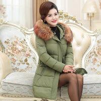 新年特惠中老年女装冬装羽绒中长款妈妈棉衣洋气外套40岁50中年人棉袄 XL 建议90-110斤