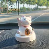 车载香水香薰招财猫汽车香氛摆件扩香石可爱车内装饰品摆件