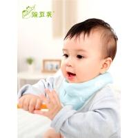 宝宝厚冬季三角巾男童女孩纱布婴儿围嘴口水巾婴儿棉三角巾
