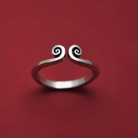 女男情侣时尚指环925银戒指女指环紧箍咒做旧戒指