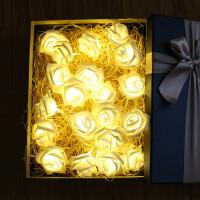 小彩灯 创意LED玫瑰花造型彩灯串KTV酒店婚庆摄影房间装饰灯表白求婚小夜灯