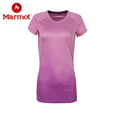Marmot/土拨鼠户外运动女式轻量透气圆领舒适吸汗短袖针织速干T恤 VIP专享96折