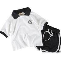 童装男童polo衫套装短袖T恤儿童夏装运动两件套