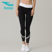 hosa浩沙薄款健身裤女 弹力紧身裤跑步运动长裤瑜伽裤