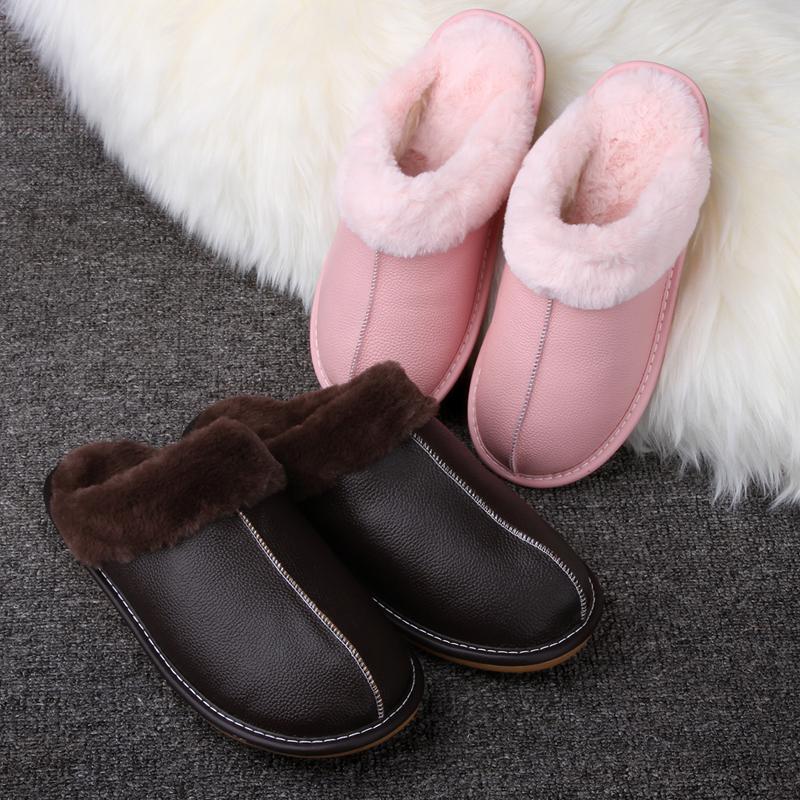 棉拖鞋冬加绒加长毛绒女家居防水室内软底保暖家用情侣