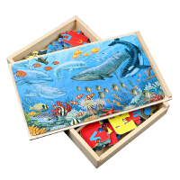 儿童拼图益智玩具3-6岁交通汽车男孩子4-5岁智力开发木质恐龙拼图