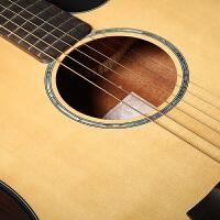 吉他单板民谣吉他41寸面单缺角电箱男木吉他初学者入门学生女 D26A 41寸哑光圆角