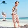 【超级品类日 秒杀价:39.9】迷你巴拉巴拉女宝宝短袖套装夏装新款女童吊带阔腿裤两件套