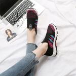 新款老北京布鞋女运动休闲平底软底单鞋透气一脚蹬妈妈懒人鞋 黑色 35